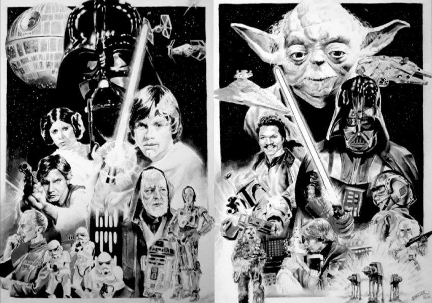 Star Wars Characters by aljackson